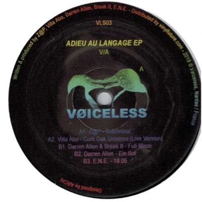 Adieu Au Langage EP